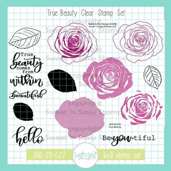 Sweet 'N Sassy TRUE BEAUTY Clear Stamp Set sns20022