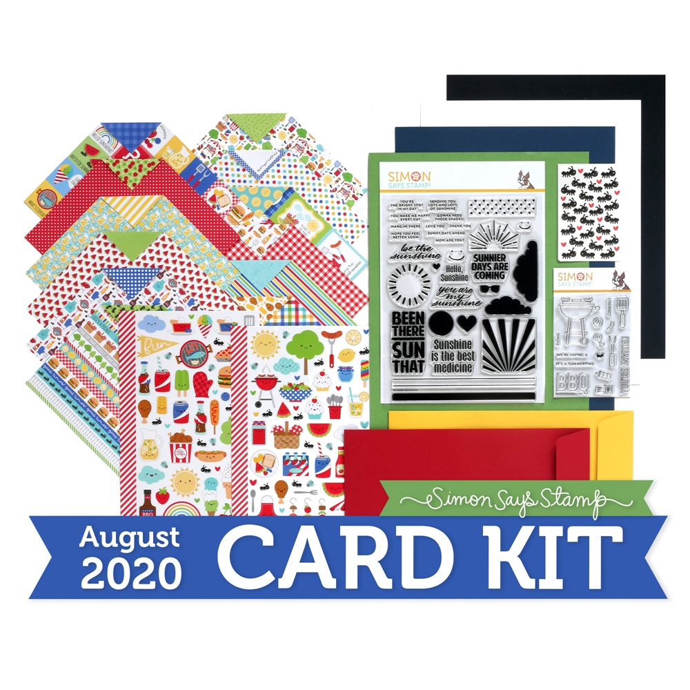 Simon Says Stamp Card Kit of the Month August 2020 PICNIC PARADE ck0820 zoom image