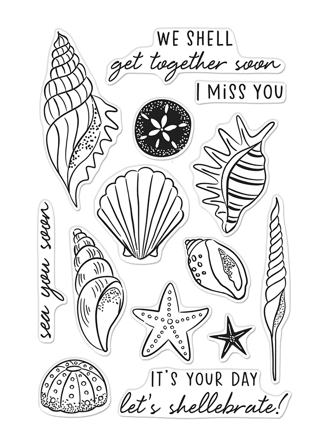 Hero Arts Clear Stamps SEA YOU SOON CM459 zoom image