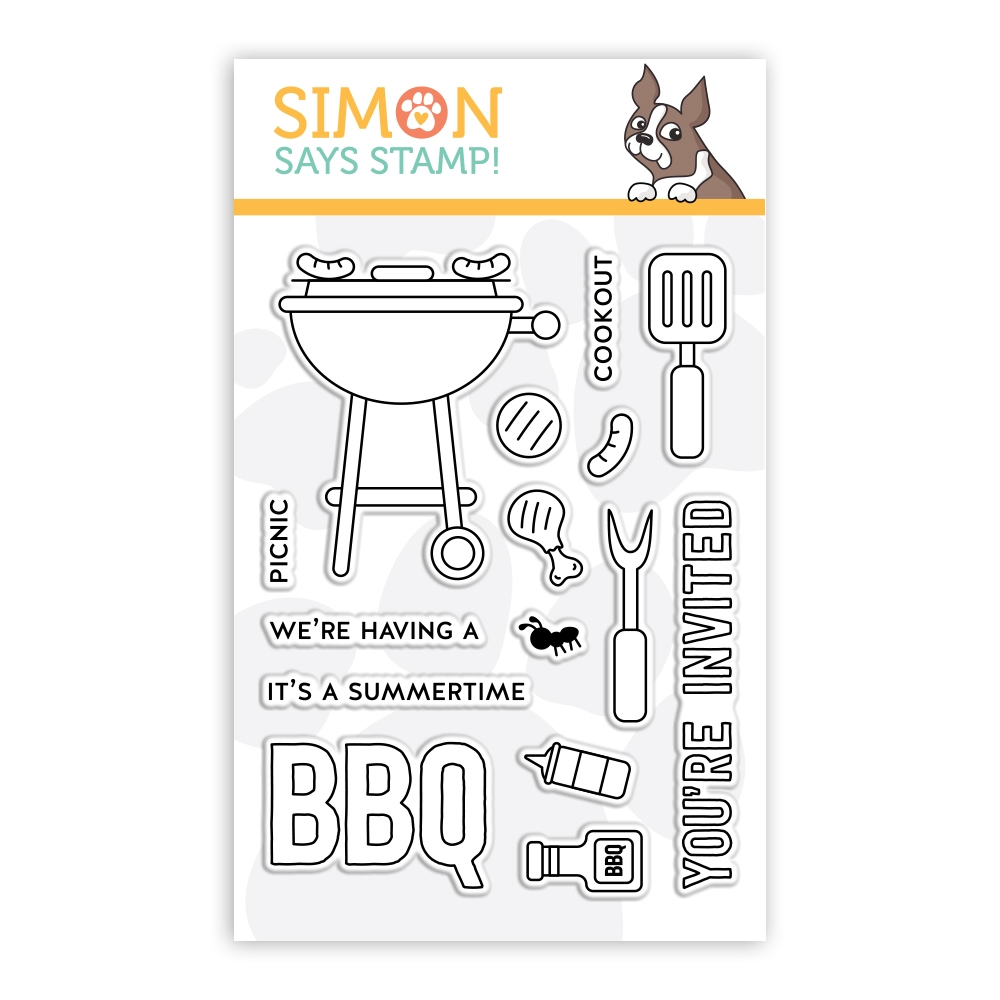 Simon Says Clear Stamps SUMMERTIME BBQ sss102193 zoom image