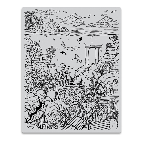 Hero Arts Cling Stamps DEEP SEA BACKGROUND CG813 Preview Image
