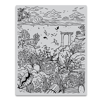 Hero Arts Cling Stamps DEEP SEA BACKGROUND CG813