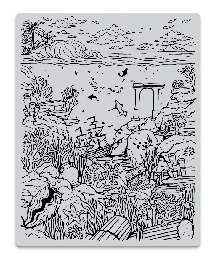 Hero Arts Cling Stamps DEEP SEA BACKGROUND CG813 zoom image