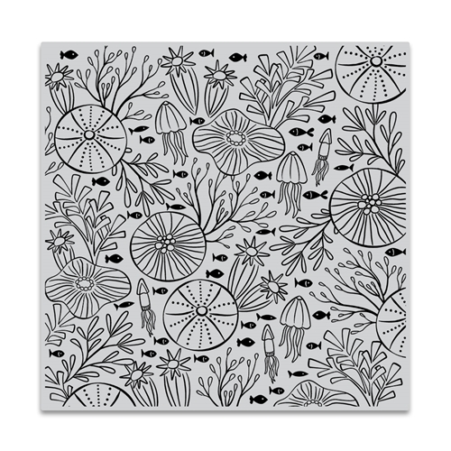 Hero Arts Cling Stamp UNDERWATER PATTERN Bold Prints CG812 Preview Image