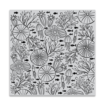 Hero Arts Cling Stamp UNDERWATER PATTERN Bold Prints CG812