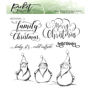 Picket Fence Studios BABY, IT'S COLD OUTSIDE Clear Stamps c115