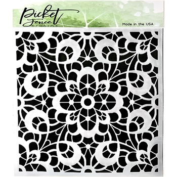 Picket Fence Studios BROCADE 6x6 Stencil sc173