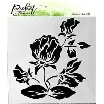 Picket Fence Studios SHADING FLOWER 6x6 Stencil sc189