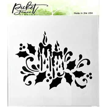 Picket Fence Studios CANDLELIGHT 6x6 Stencil sc175