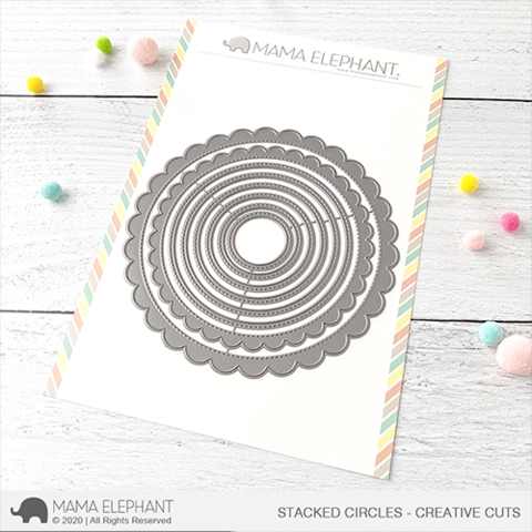 Mama Elephant STACKED CIRCLES Creative Cuts Steel Dies Preview Image
