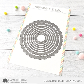 Mama Elephant STACKED CIRCLES Creative Cuts Steel Dies