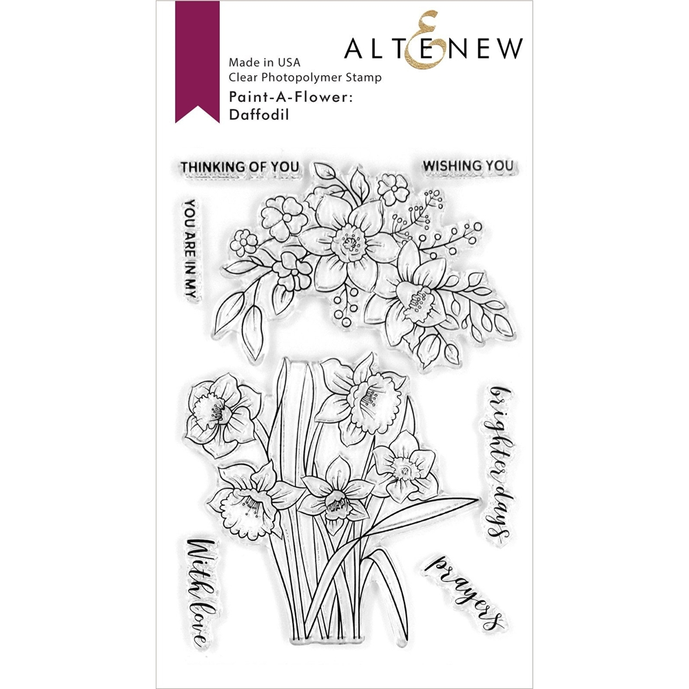 Altenew PAINT A FLOWER DAFFODIL Clear Stamps ALT4193 zoom image