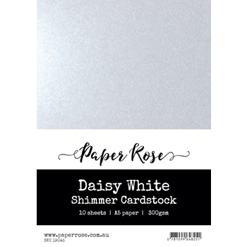 Paper Rose DAISY WHITE Shimmer Cardstock A5 19045