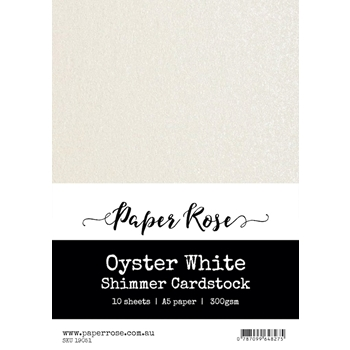 Paper Rose OYSTER WHITE Shimmer Cardstock A5 19051