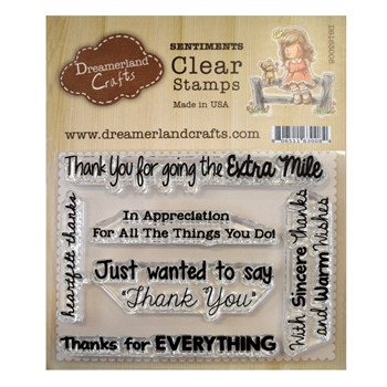 Dreamerland Crafts THANK YOU SENTIMENTS 002 Clear Stamp Set ds163008