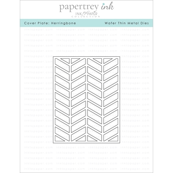 Ink to Paper COVER PLATE HERRINGBONE Die ITP156