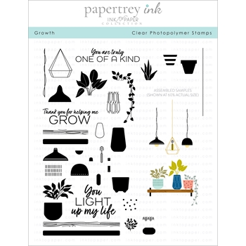 Ink to Paper GROWTH Clear Stamps 1182