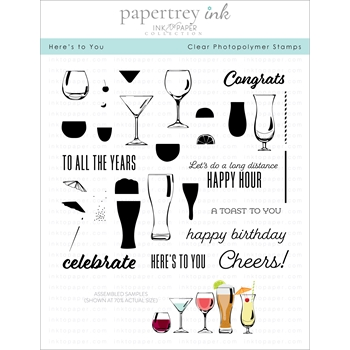 Ink to Paper HERE'S TO YOU Clear Stamps 1181