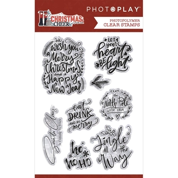 PhotoPlay CHRISTMAS CHEER PHRASE Clear Stamps chr2310