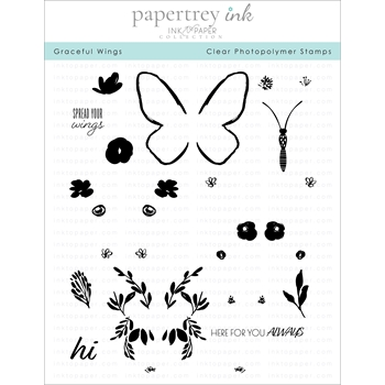 Ink to Paper GRACEFUL WINGS Clear Stamps 1180