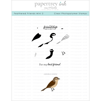 Ink to Paper FEATHERED FRIENDS MINI 2 Clear Stamps 1179