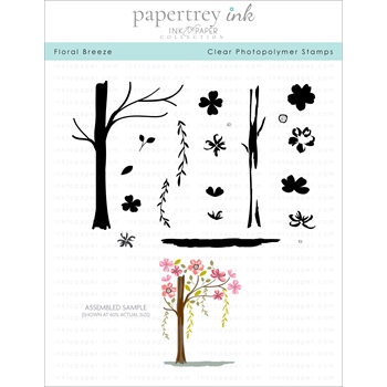Ink to Paper FLORAL BREEZE Clear Stamps 1178