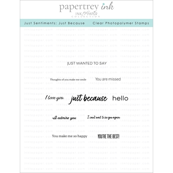 Ink to Paper JUST SENTIMENTS JUST BECAUSE Clear Stamps 1177