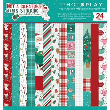 PhotoPlay NOT A CREATURE WAS STIRRING 6 x 6 Paper Pad ncs2331