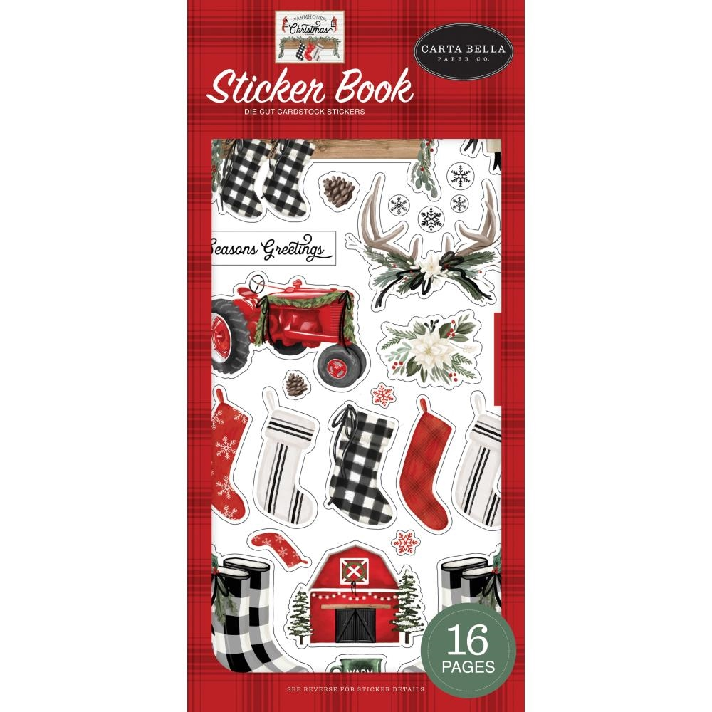 Carta Bella CHRISTMAS FARMHOUSE Sticker Book cbfac123029 zoom image