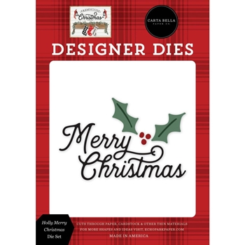 Carta Bella HOLLY MERRY Dies Set cbfac123040