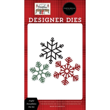 Carta Bella JOYFUL SNOWFLAKES Dies Set cbfac123041
