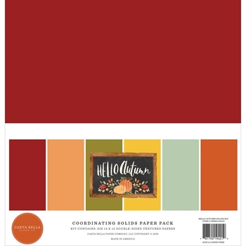 Carta Bella HELLO AUTUMN 12 x 12 Solids Kit cbhea122015