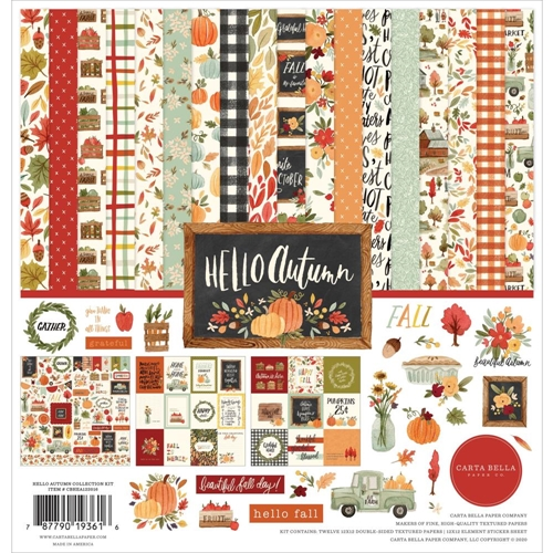 Carta Bella HELLO AUTUMN 12 x 12 Collection Kit cbhea122016 Preview Image