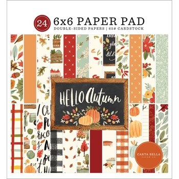Carta Bella HELLO AUTUMN 6 x 6 Paper Pad cbhea122023