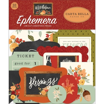 Carta Bella HELLO AUTUMN Ephemera cbhea122024