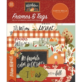Carta Bella HELLO AUTUMN Frames And Tags Ephemera cbhea122025