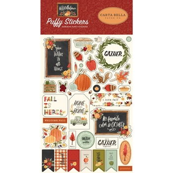 Carta Bella HELLO AUTUMN Puffy Stickers cbhea122066
