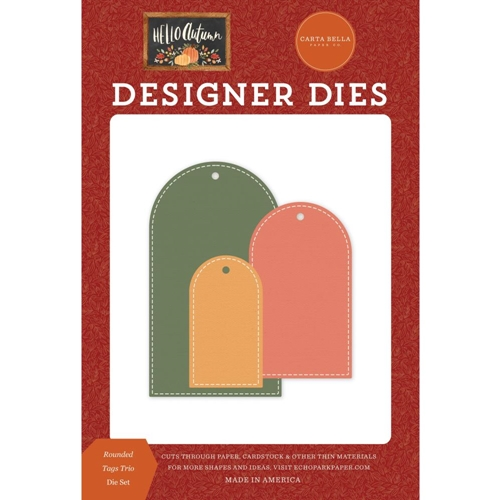 Carta Bella ROUNDED TAG TRIO Dies Set cbhea122042 Preview Image
