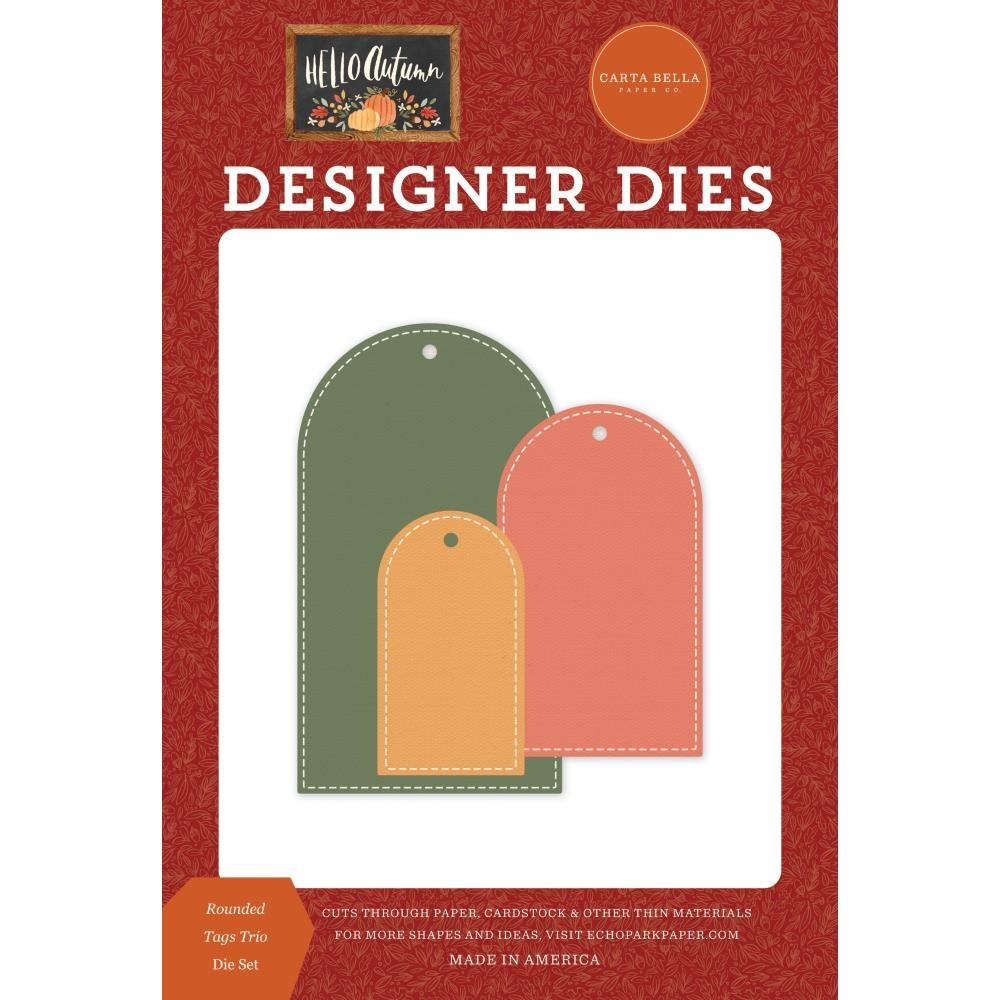 Carta Bella ROUNDED TAG TRIO Dies Set cbhea122042 zoom image