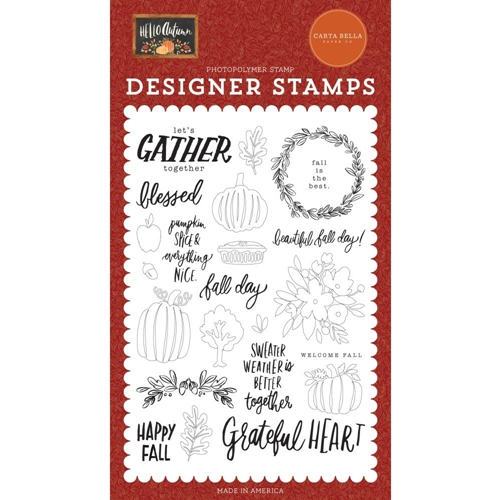 Carta Bella FALL DAY Clear Stamps cbhea122045 Preview Image