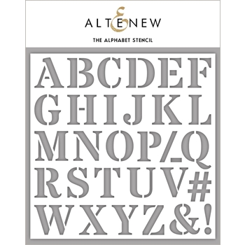 Altenew THE ALPHABET Stencil ALT4239