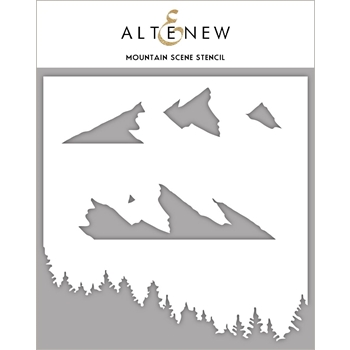 Altenew MOUNTAIN SCENE Stencil ALT4238