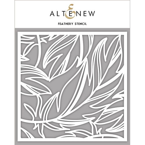 Altenew FEATHERY Stencil ALT4236 Preview Image