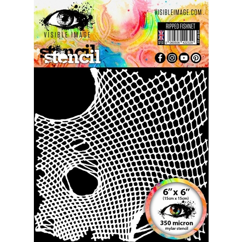Visible Image RIPPED FISHNET Stencil VIS-RIF-03 Preview Image