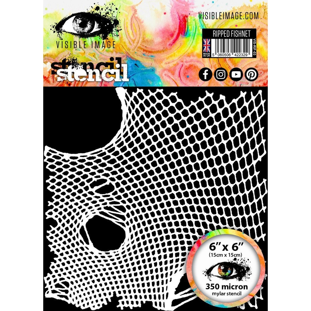 Visible Image RIPPED FISHNET Stencil VIS-RIF-03 zoom image
