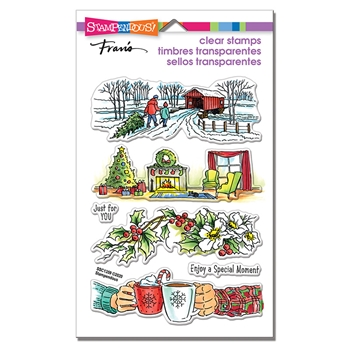 Stampendous Clear Stamps HOLIDAY GIFT ssc1359*