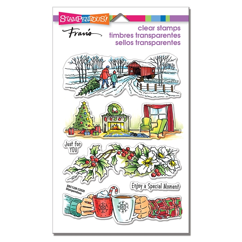 Stampendous Clear Stamps HOLIDAY GIFT ssc1359* zoom image