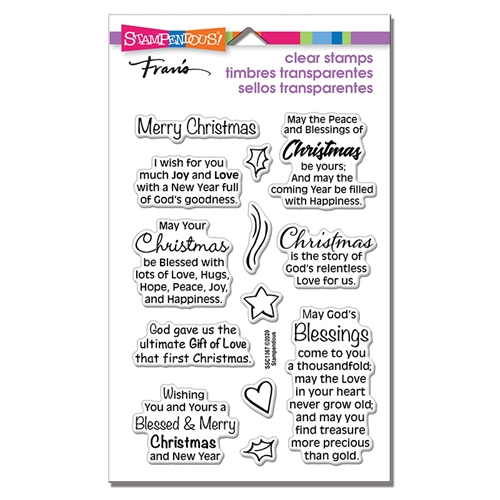 Stampendous Clear Stamps BLESSED CHRISTMAS ssc1367 Preview Image