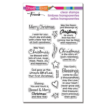 Stampendous Clear Stamps BLESSED CHRISTMAS ssc1367