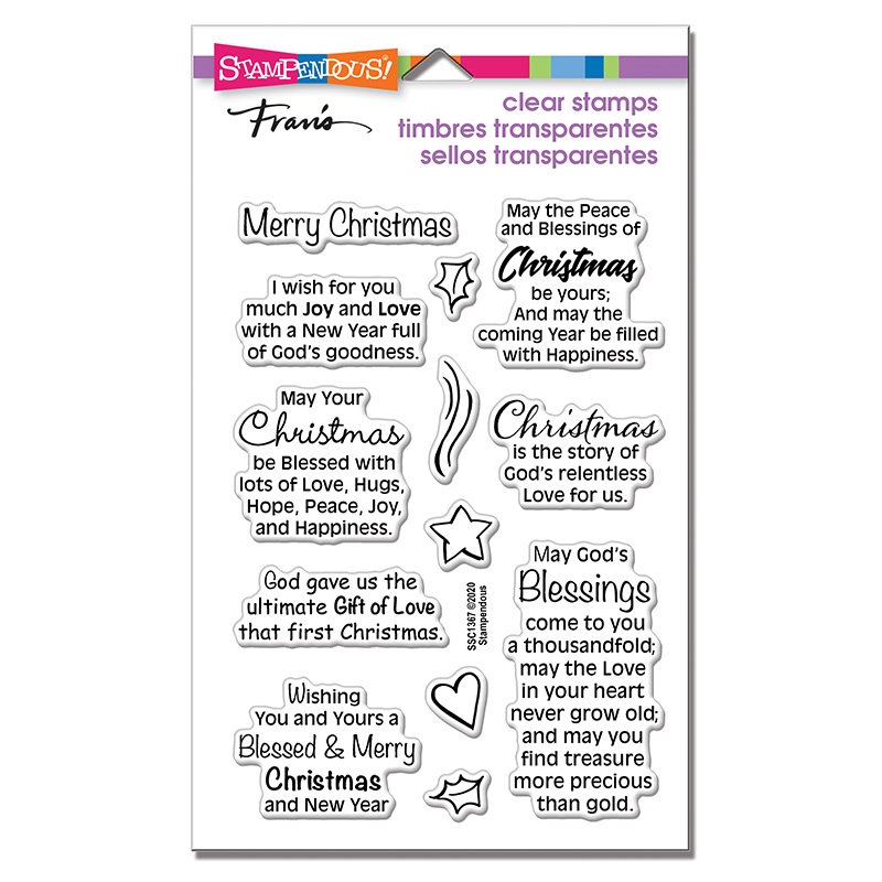 Stampendous Clear Stamps BLESSED CHRISTMAS ssc1367 zoom image